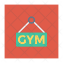 Gym Board Signboard Icon