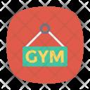 Gym Board Signboard Icon
