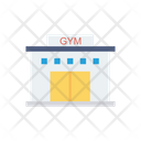 Gym Building Fitness Icon