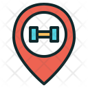Gym Location Dumbbell Icon