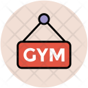 Gym Signboard Sign Icon