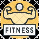 Gym Signboard Gymnasium Icon