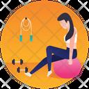 Gym Ball Gym Exercise Gym Equipment Icon