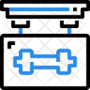 Gym Fitness Board Icon