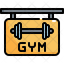 Gym Sign Shop Icon