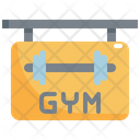 Gym Sign Shop Icon