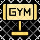 Gym Board Gym Fitness Icon