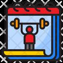 Gym Calendar Gym Day Exercise Icon