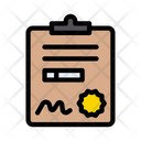 Gym Certificate Icon