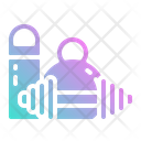 Dumbell Gym Exercise Icon