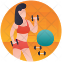 Gym Exercise Physical Fitness Dumbbells Exercise Icon