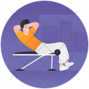 Gym Exercise Gym Training Healthy Activity Icon