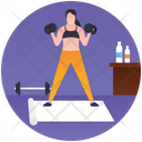 Gym Exercise Workout Gym Equipment Icon