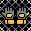 Fitness Gloves Dumbbell Icon