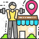 Gym Location Gym Town Workout Icon