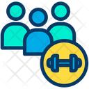 Users Gym Member Fitness Team Icon