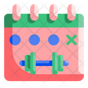 Schedule Calendar Dumbbell Icon