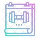 Calendar Fitness Time Icon