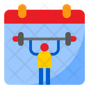 Gym Schedule Exercise Date Icon