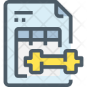 Fitness Planning Gym Icon