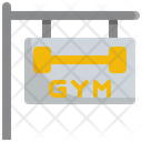 Gym signboard Icon