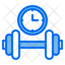 Dumbbell Clock Time Icon