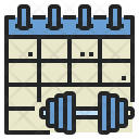 Workout Schedule Health Icon