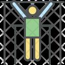Gymnast Exercise Hang Icon