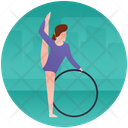 Gymnast Ring Artistic Gymnastic Summer Olympics Icon