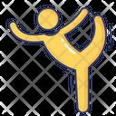 Gymnastic Poses Exercise Icon