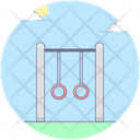 Gymnastic Rings Amusement Park Kids Park Icon