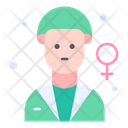 Gynecologist Physician Lady Doctor Icon
