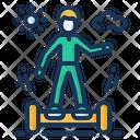 Gyroscooter Boy Riding Icon