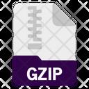 Gzip File Document Icon