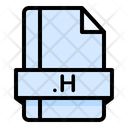 H File File Extension Icon