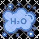 H 2 O Cloud Chemical Formula Icon