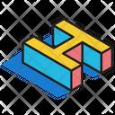 3 D H 3 D Letter 3 D Alphabet Icon