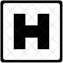 H Uppercase Latin Icon