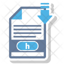 H File Format Icon