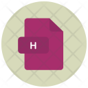 H File Extension Icon
