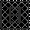 H Alphabet Uppercase Icon