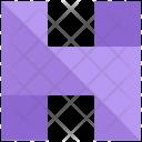 H Design Letter Icon