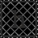 H Lowcase Element Icon