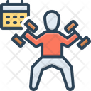 Habits Knack Healthcare Dumbbell Exercise Man Icon