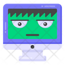 Hacked Screen Hacked Computer Hacked Monitor Icon