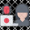 Hacker Laptop Bug Icon