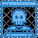 Browser Skull Danger Hacker Browser Hacker Icon