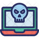 Hacking Laptop Virus Icon