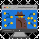 Cyber Network Crime Icon