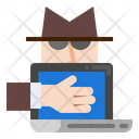 Computer Crime Internet Icon